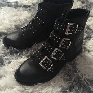 Benji Black Buckle Boots SM New York